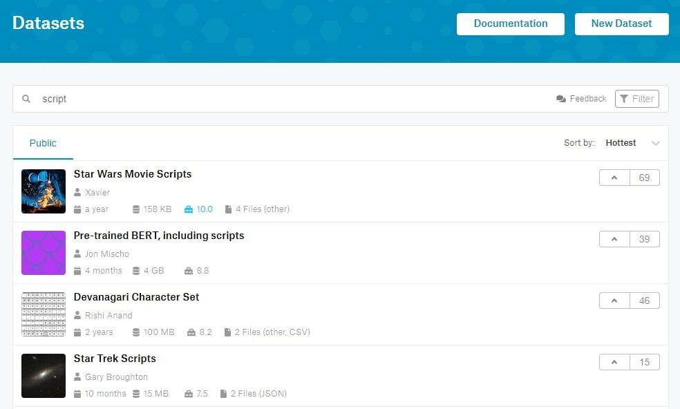 kaggle电影剧本网
