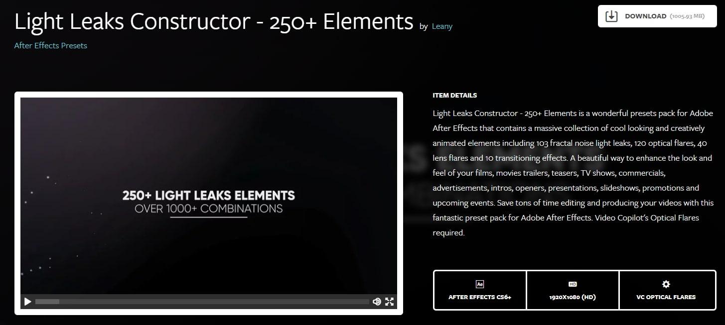 Light Leaks Constructor
