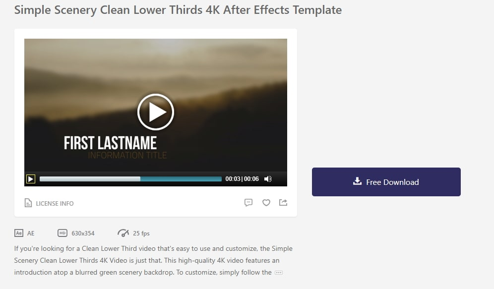 Lower Thirds after effects templates