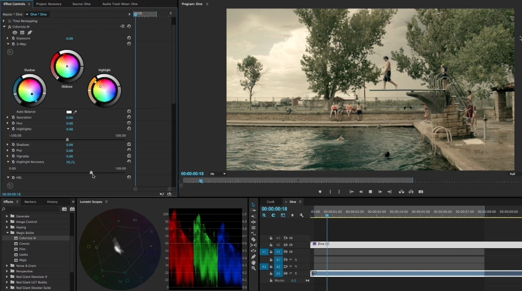 Red Giant Colorista color grading