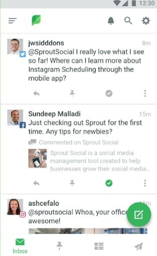 Sprout Social planicador de publicaciones en linkedin