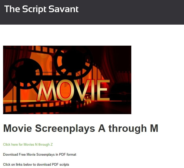 The Script Savant