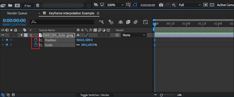 how to add keyframes after effects