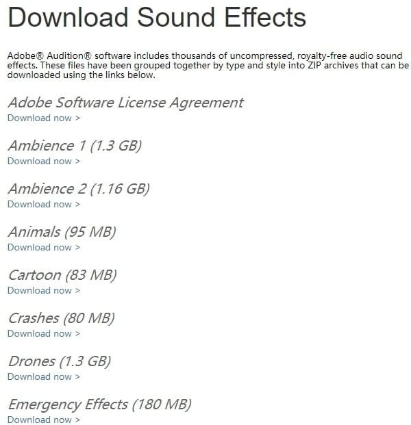 Adobe Audition - Effetti Sonori