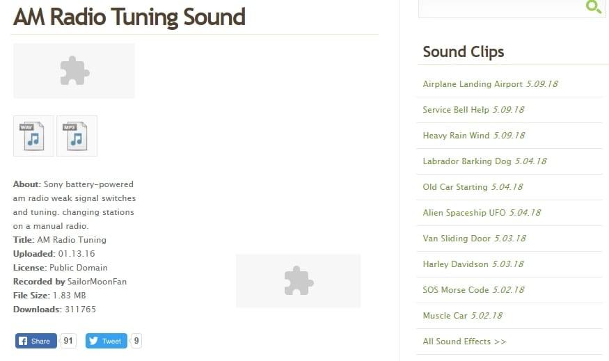 AM Radio Tuning Sound