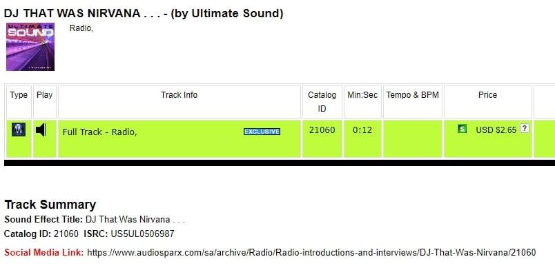 DJ That Was Nirvana Radio