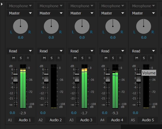 Audio Track Mixer overview