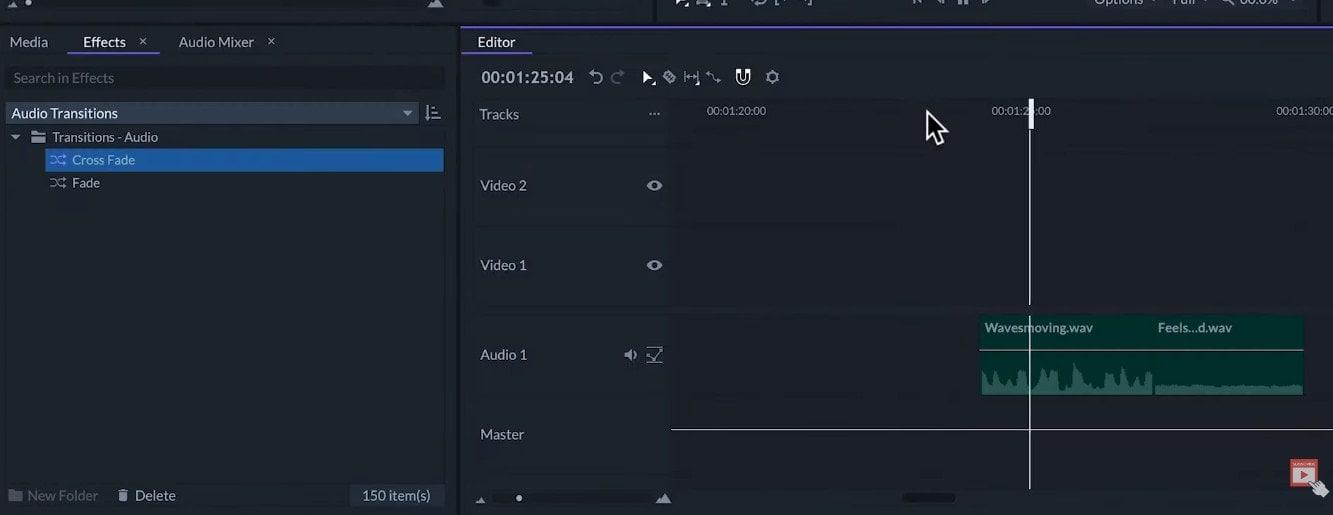 transitions audio