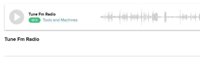 radio sound effects Tune Fm Radio