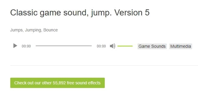 Classic Game Sound Jump