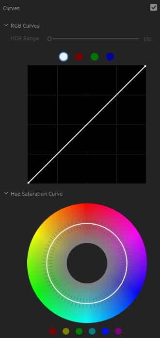 lumetri color Curves