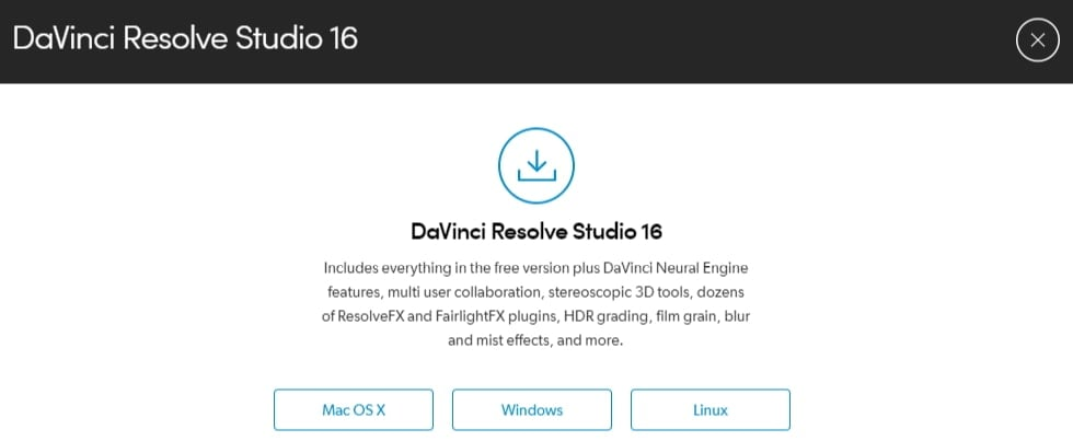 download Davinci Resolve on Linux