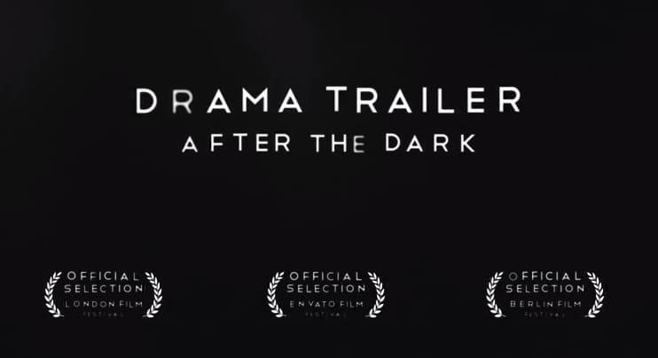 Modelo de trailer de filme de drama e suspense
