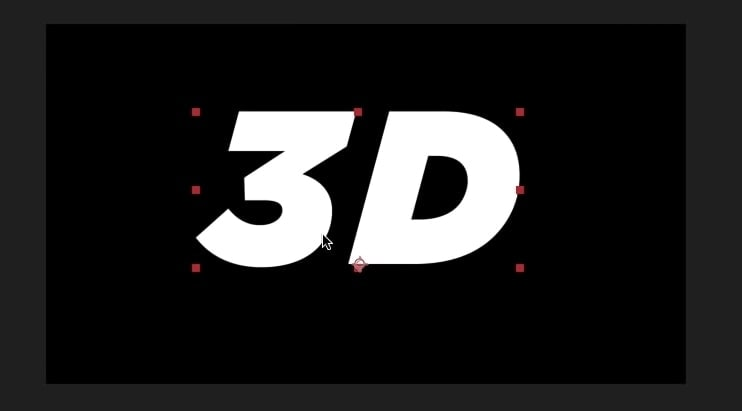 type 3d text after effects