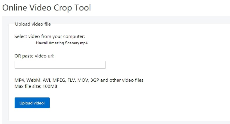 crop video online