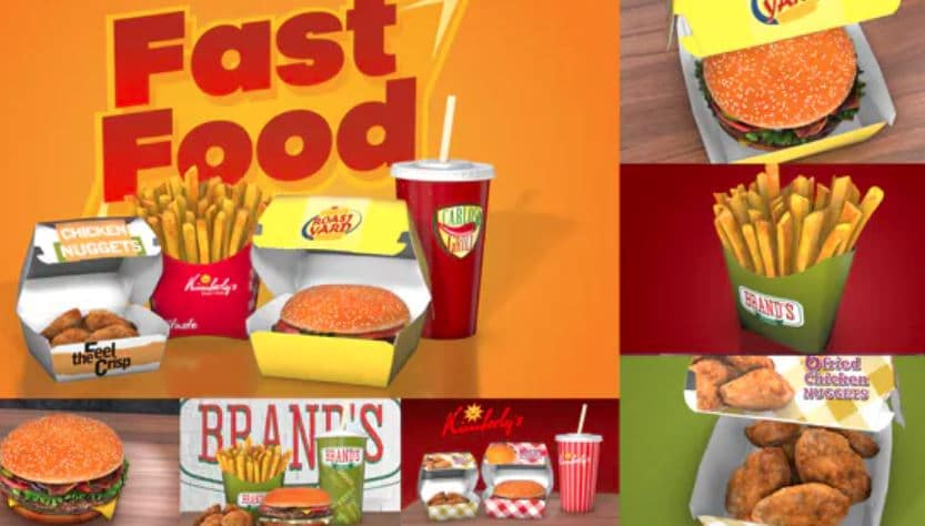 Fast Food Template for Video Ad