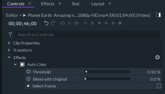 Farbkorrektur filmorapro