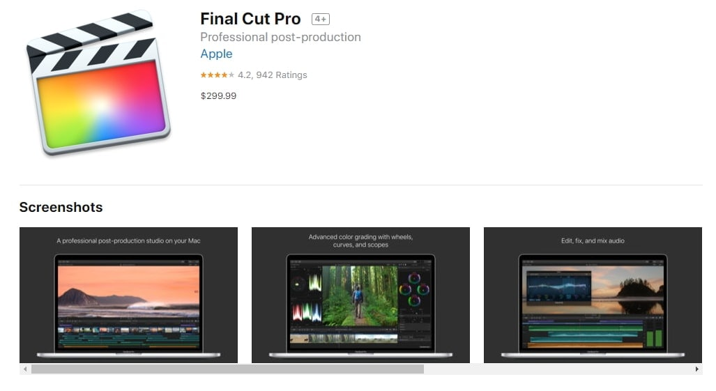 final cut pro price