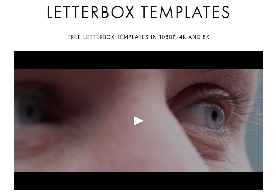 Free Letterbox Templates for premiere pro