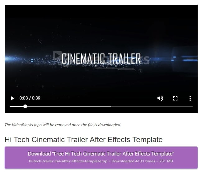 Tech after effects templates