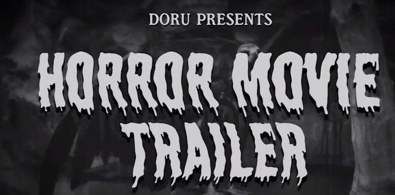 Modelo de trailer de filme de terror após efeitos