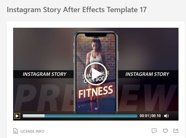 Plantilla de Instagram Story After Effects
