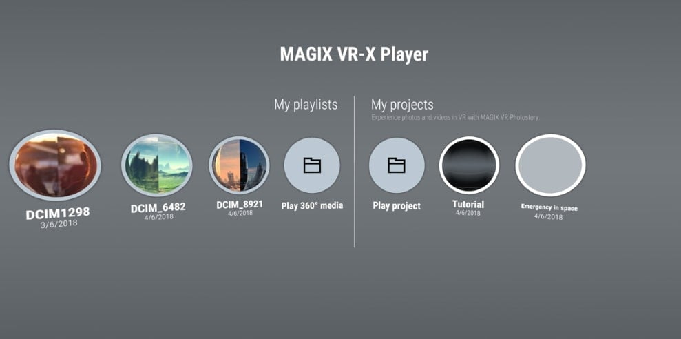 Magix VR Player
