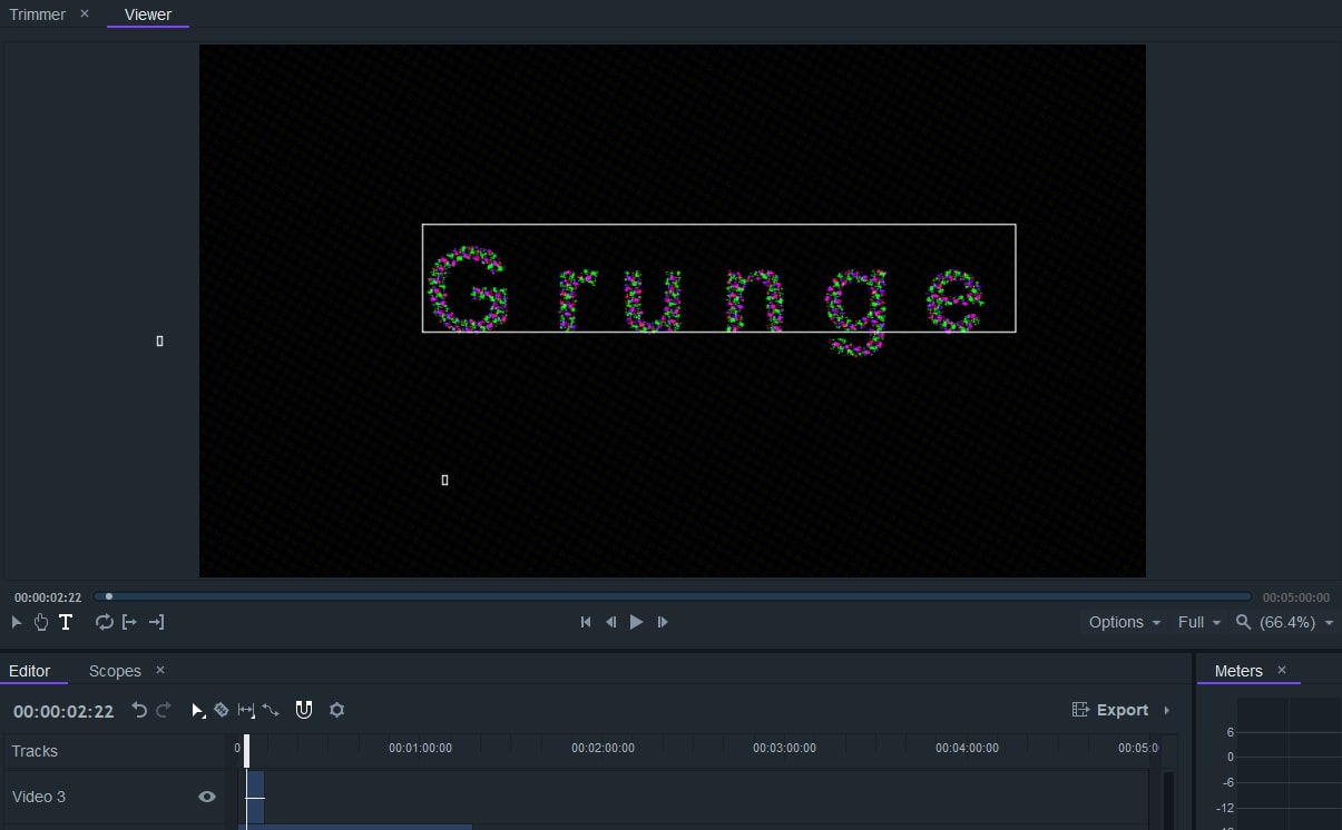 adjust grunge effect filmorapro