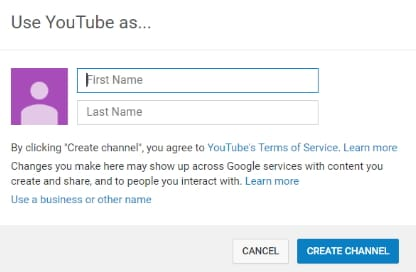 Create a YouTube Business Account