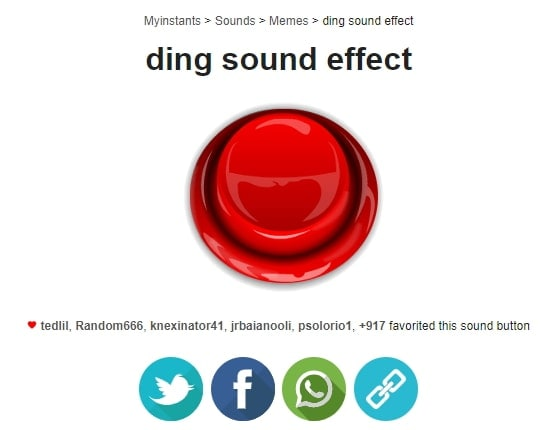 Myinstants ding sound effects