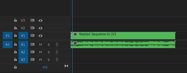 Premiere Pro Nest a clip