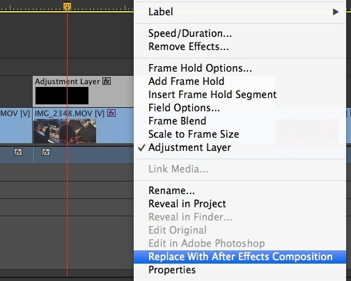compisition after effects reduce noice