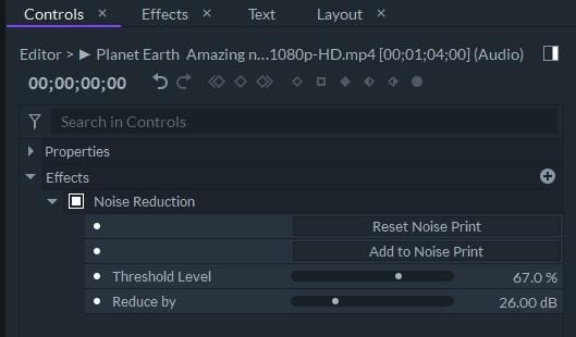 apply noise reduction filmorapro