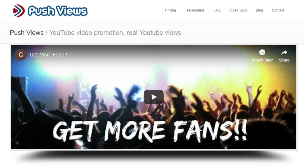 Youtube Video Promotion Services pushviews