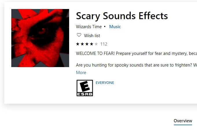 Microsoft Scary Sounds Effects