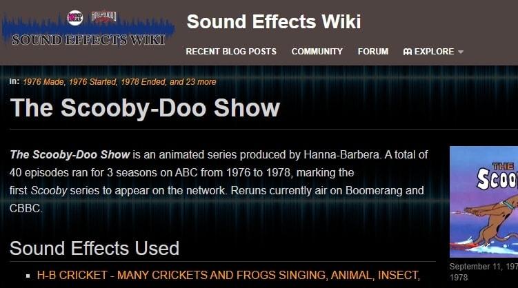 Scooby Doo Running Sound