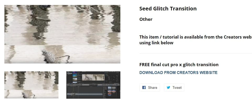 Free Seed Glitch FCPX Transition