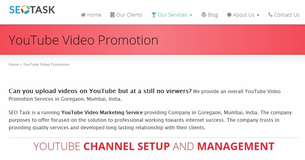 Youtube Video Promotion Services seotask