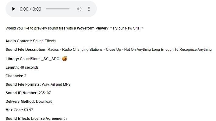 Radio Changing Stations