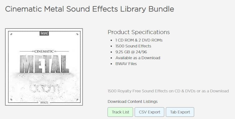 Cinematic Metal Sound Effects Library Bundle