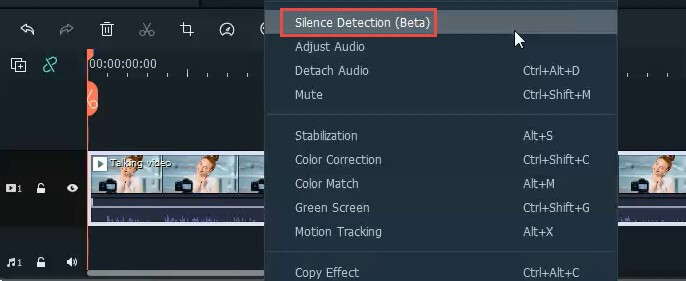 select silence detection
