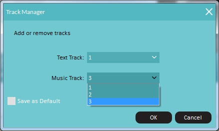 add audio tracks