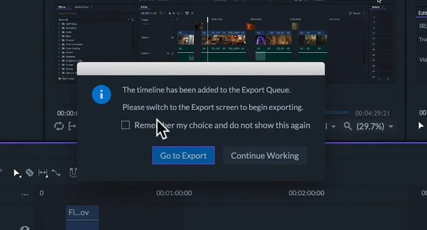 export queue