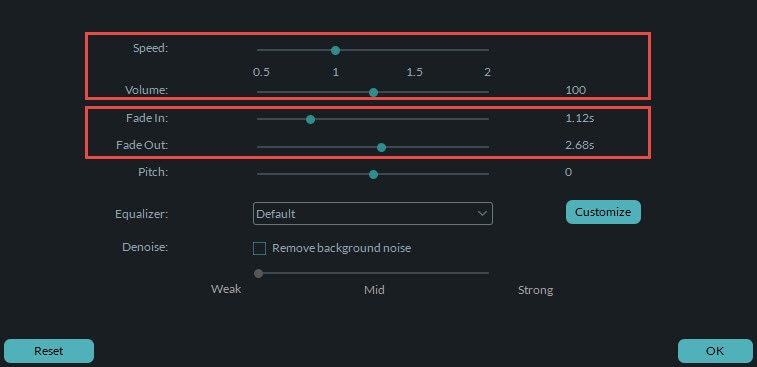 set speed/volume of a sound effect
