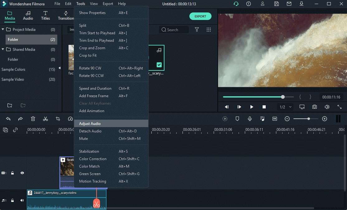 Audio Ducking ajust audio