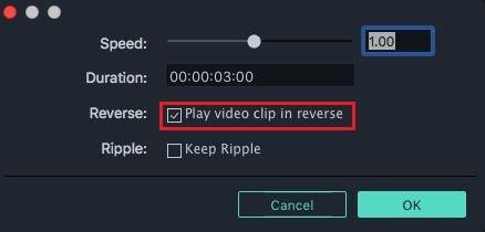 video reverse in filmora version 9 mac