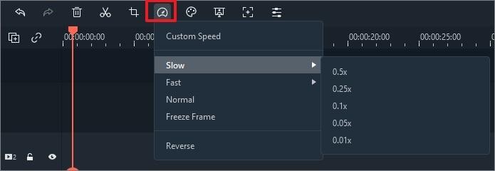 inestra velocità personalizzata