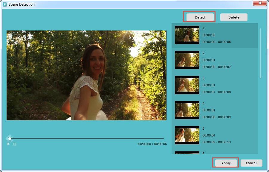 Filmora Scene Detection