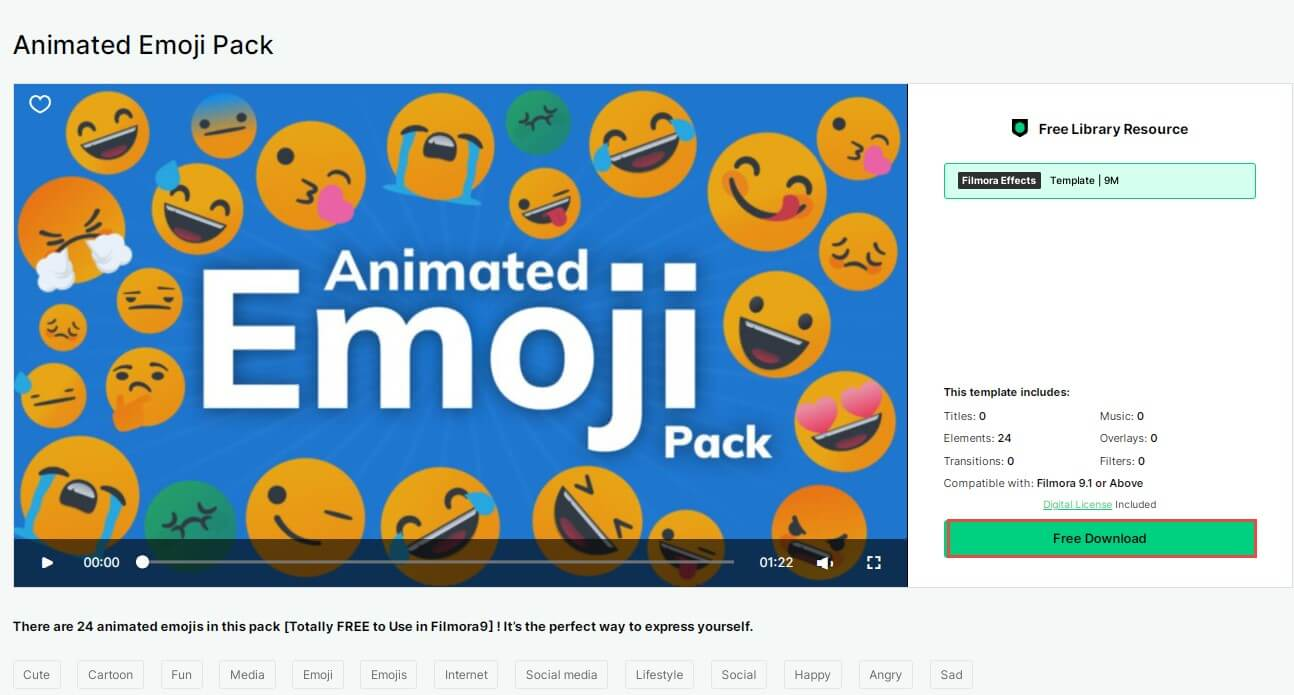 download animated filmstock pack