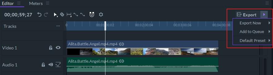 esportazione video - FilmoraPro